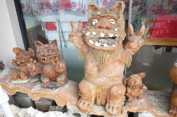 沖縄,那覇,国際通り,シーサー