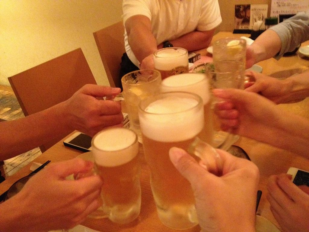 五反田,吉福,送別会,一番搾り,飲み放題