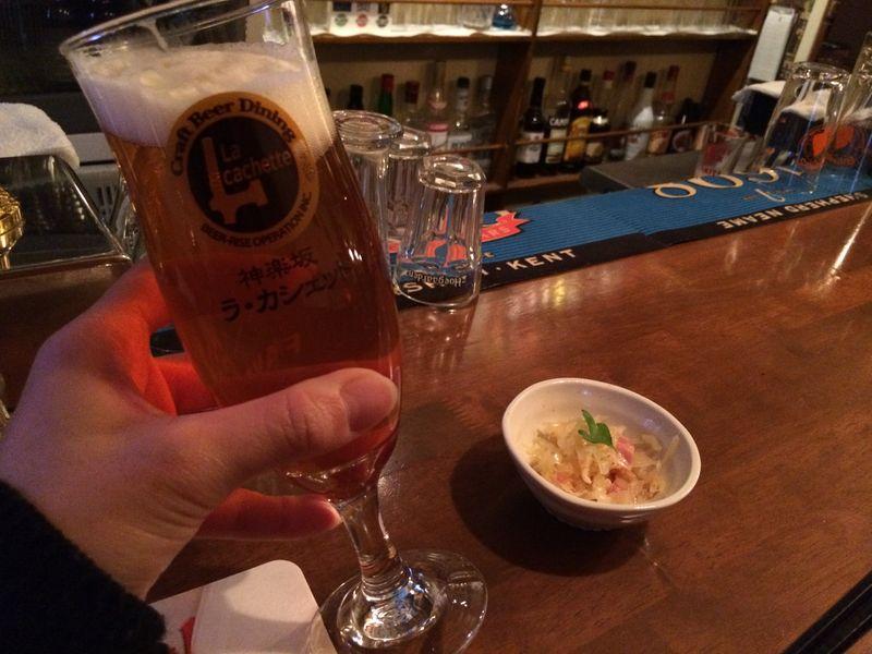 神楽坂,パブクロール,ビール,ラ・カシェット
