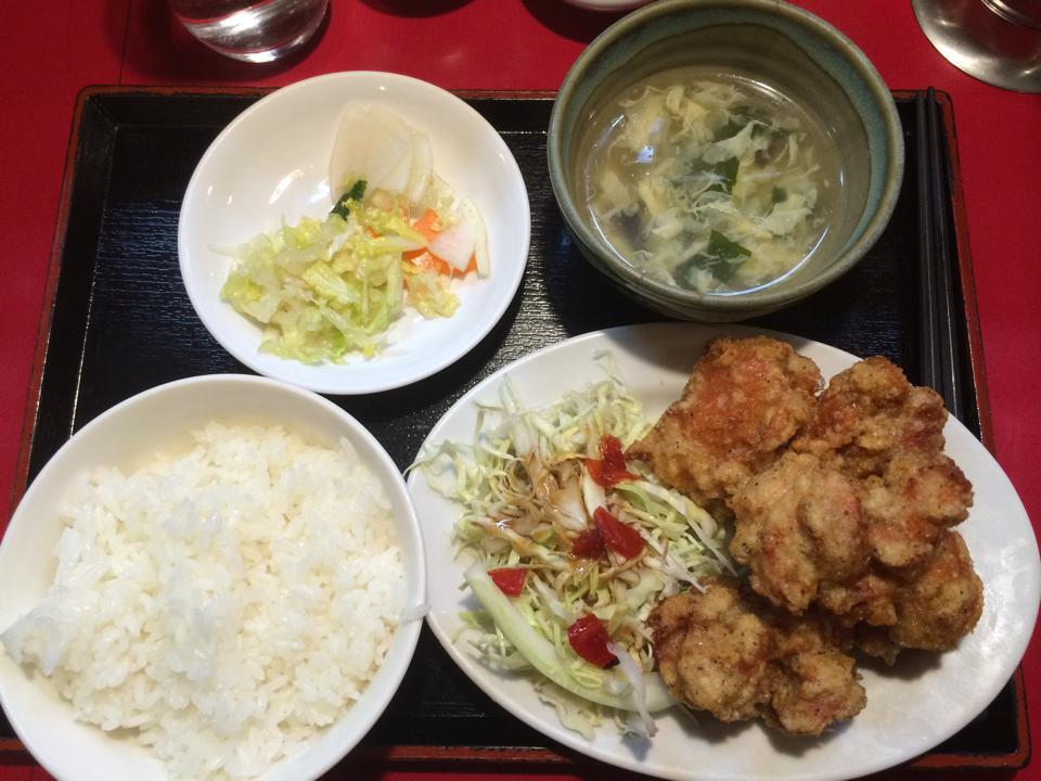 五反田,栄福,ワンコイン,ランチ,若鶏の唐揚げ