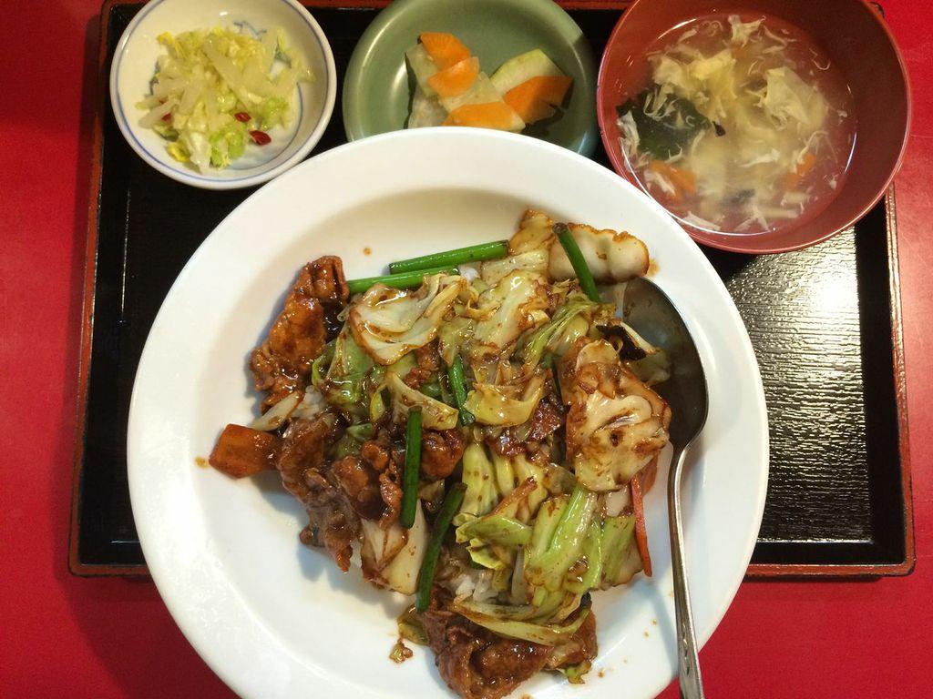五反田,栄福,ワンコイン,ランチ,回鍋肉丼