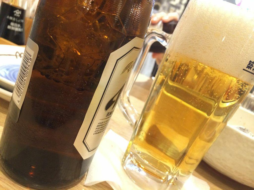 高田馬場,築地食堂,源ちゃん,ビール