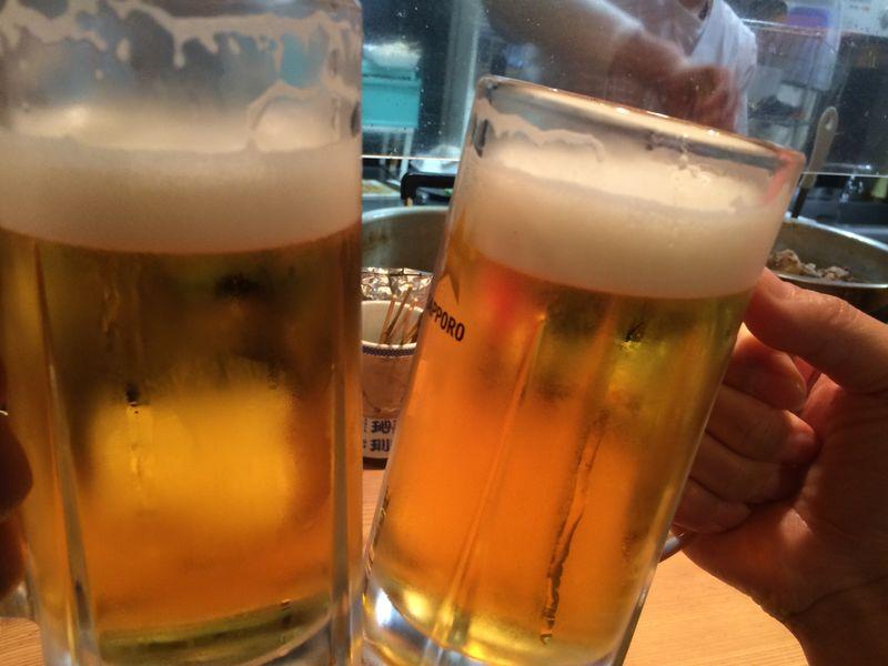 横浜,野毛,宮川橋もつ肉店,ビール