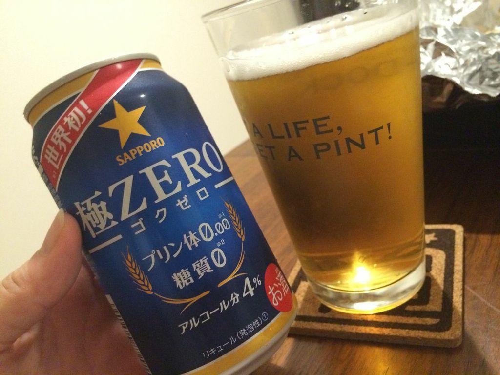 サッポロ,ビール,極ZERO