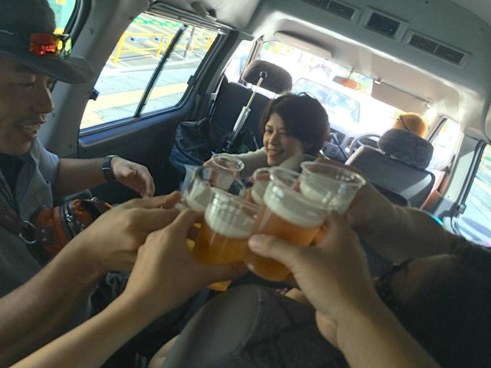 沖縄,奥間,キャンプ,シュノーケル,ビール