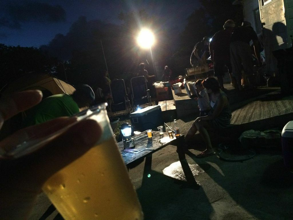 沖縄,奥間,キャンプ,ビール