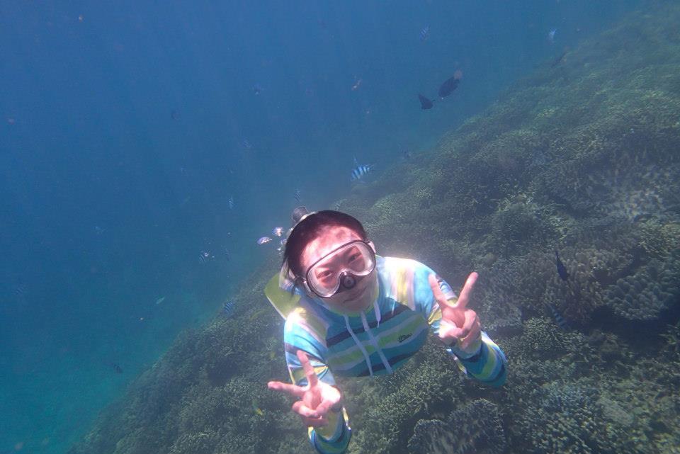 沖縄,奥間,キャンプ,素潜り