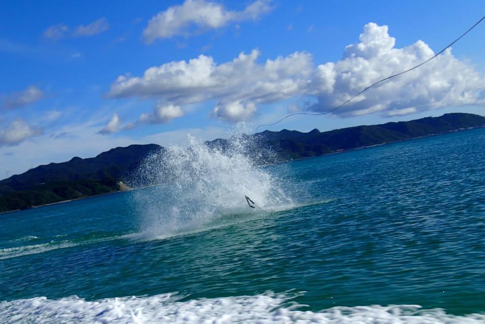 沖縄,奥間,キャンプ,ウェイクボード