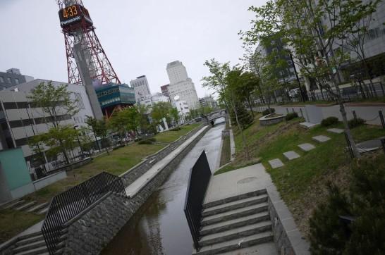 札幌,創成川,憩いの場