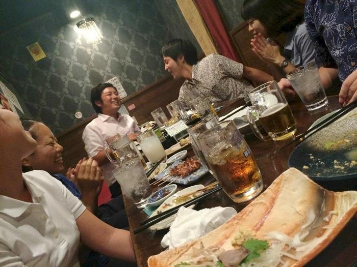 那覇,松山,ちゃんぴおん,歓迎会,串焼き