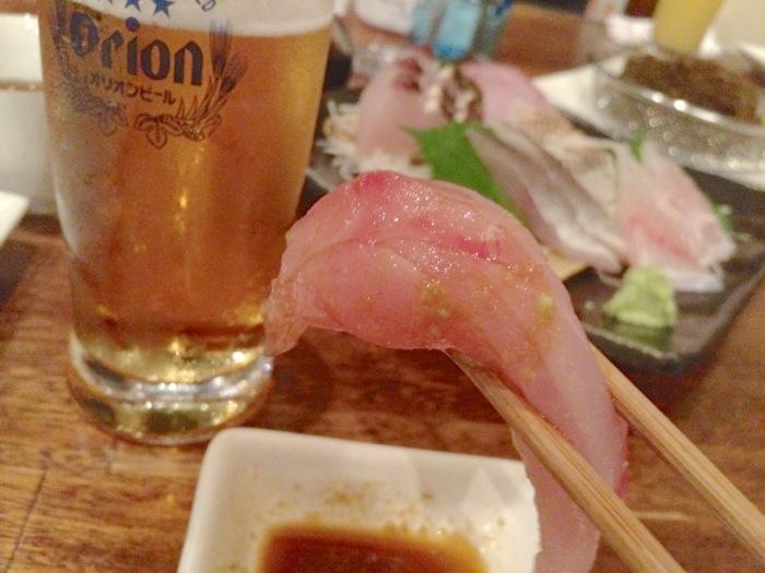 那覇,いゆじ,刺身,ビール
