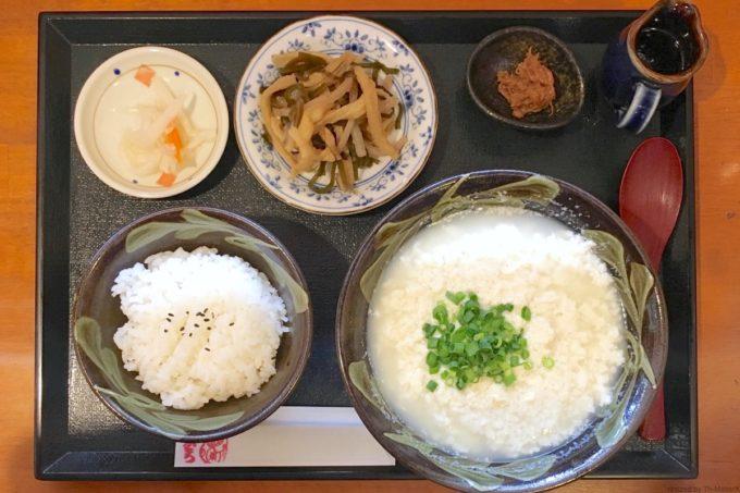那覇・久茂地「琉球茶房すーる」ゆしどうふセット(600円)
