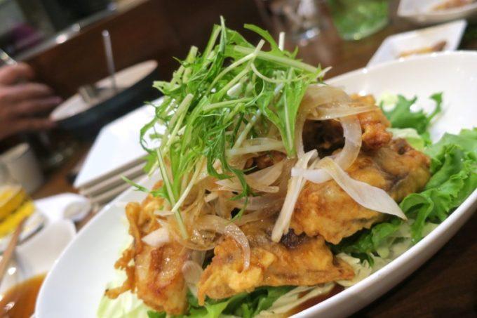 那覇・泊「いゆじ」で食べた魚の揚げ物(1500円くらい)