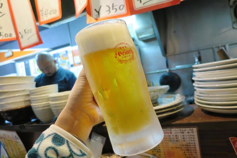 あぶさん,浦添,もつ焼き,ビール