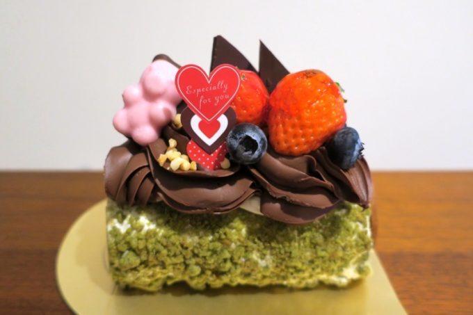 「shouzu sweets OZ(ショウズスイーツオズ)」の2017年バレンタイン用ケーキ(800円)