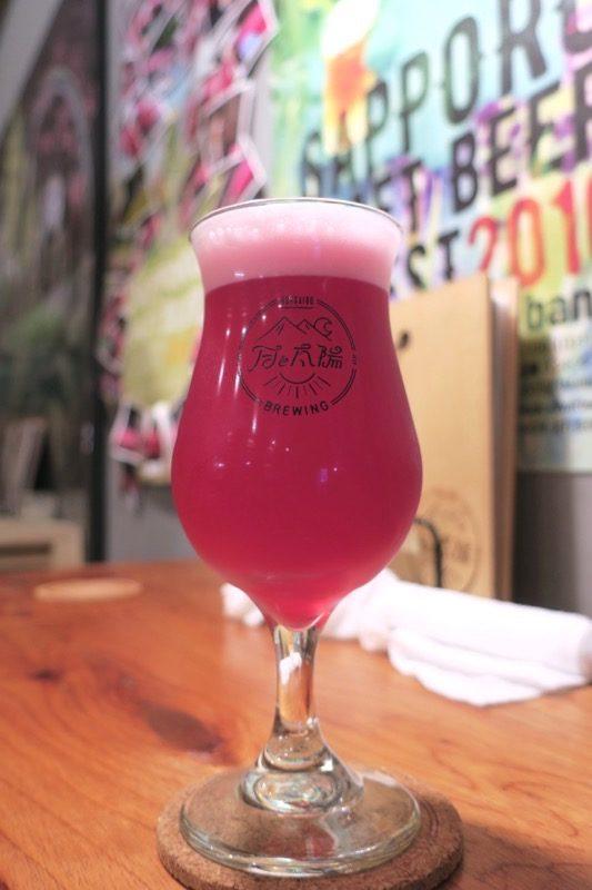 札幌「月と太陽ブルーイング」でいただいた、3年越しの自家醸造ビールは紅姫改(ベニヒメアラタメ、ハーフパイント550円)