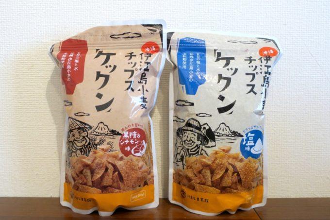 伊江島の小麦で作られている「伊江島小麦チップス ケックン」がウマくてやめられなくなる。