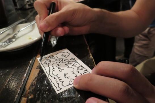 シブヤタクトの手書き名刺