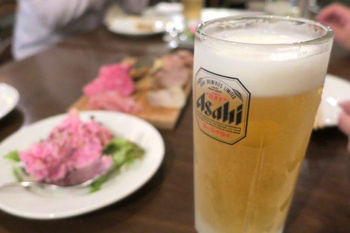 那覇・泉崎「串焼きとだしカレー。Makato(まかと)」飲み放題なのに生ビール(アサヒスーパードライ)が嬉しい!