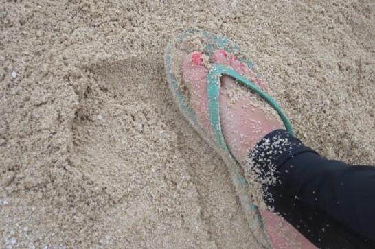 サンセットビーチの砂浜