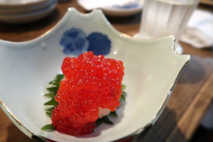 那覇・松尾「パーラー小やじ」すじこ醤油漬け(400円)