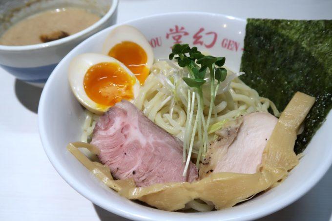 那覇・前島「麺や 堂幻」濃厚鶏魚介つけそば(250g、850円)に味玉トッピング(+100円)