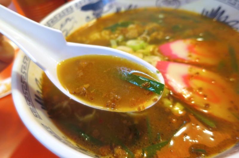 那覇市曙「あけぼのラーメン」台湾ラーメンのスープ