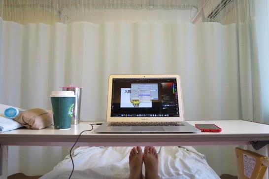 入院,沖縄赤十字病院