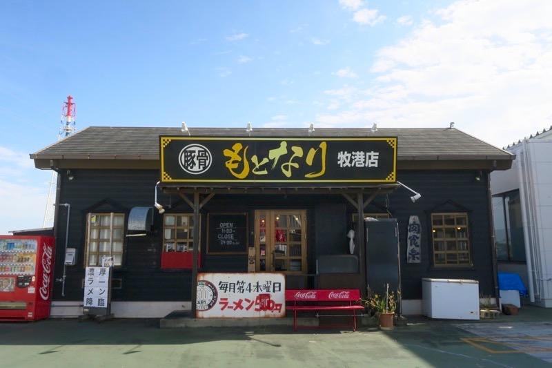 浦添「麺や偶 もとなり 牧港店」の外観(2019年2月時点)