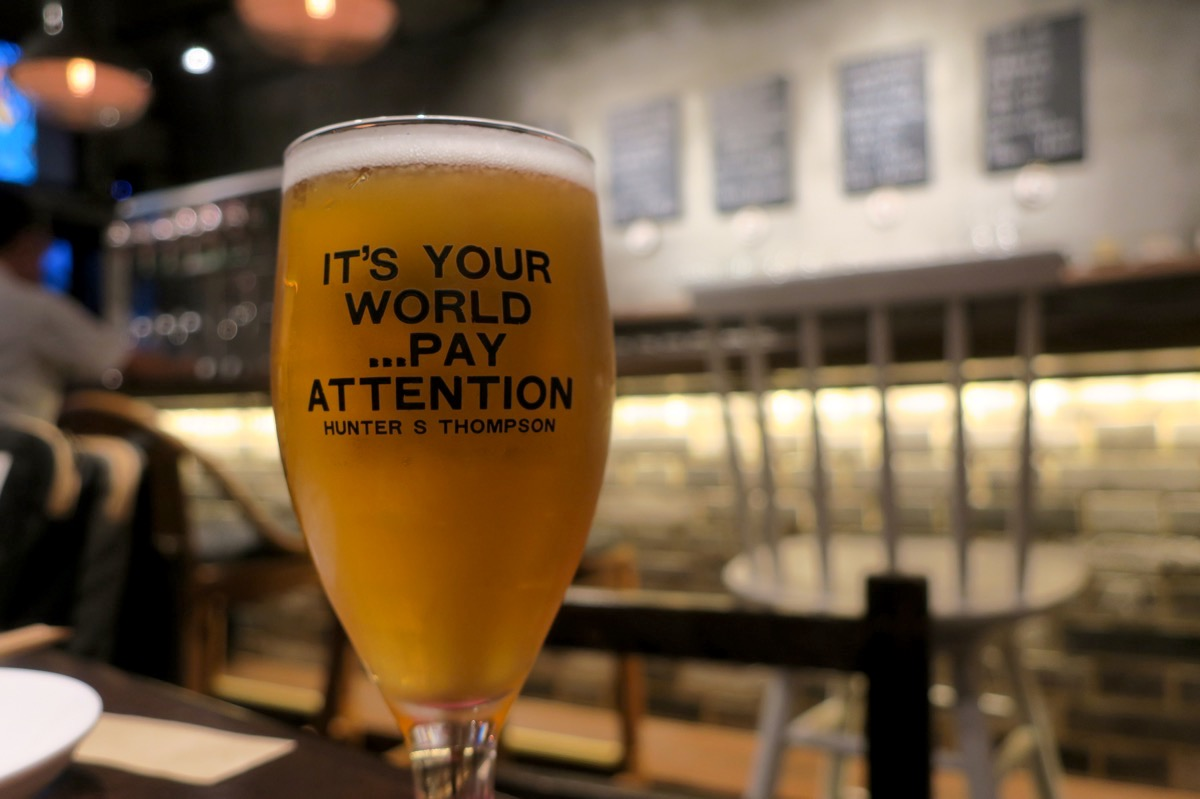 那覇・牧志「Beer bar Felt(フェルト)」PUNK IPA(ハーフ、750円)をお代わりしたんだろうか。