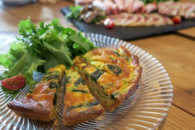 那覇・長田「金城商店」のコース料理、自家製キッシュ(2018年6月)