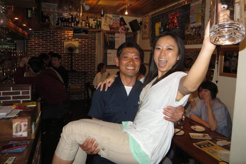 伊勢角屋麦酒の出口さんにお姫様抱っこしてもらった!