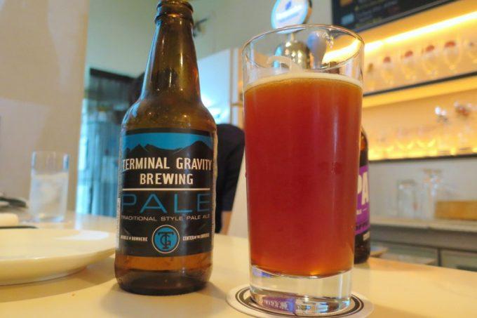 「BEER PARA DINING(ビアパラダイニング)」で注文したTerminal Gravity Brewingのペールエール(ボトル)