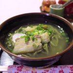 「ISA麺」のよもぎそば(480円))