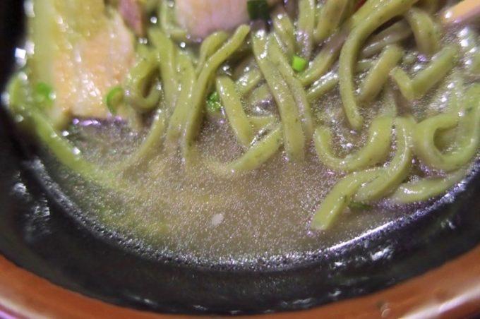 「ISA麺」のスープにはあぐーダシを使っているそうだ
