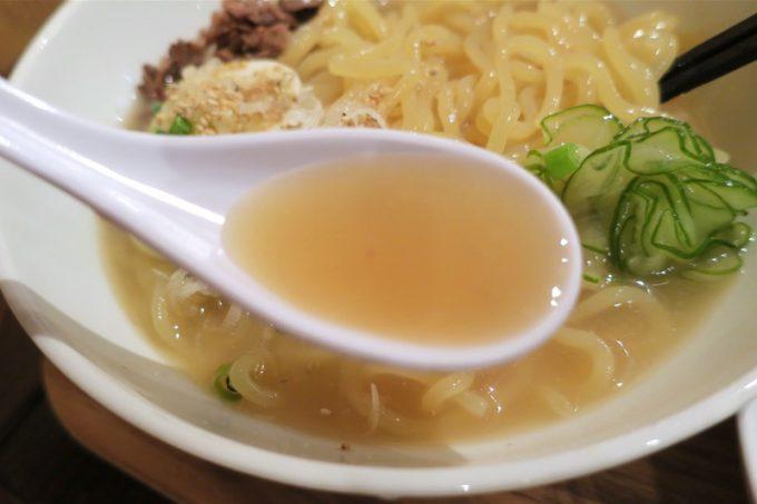 「ちるり(Chillri)」ピンボケしちゃった冷麺スープ