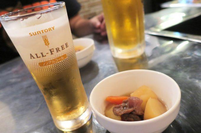 函館「テムジン」のビールはサッポロクラシックだった