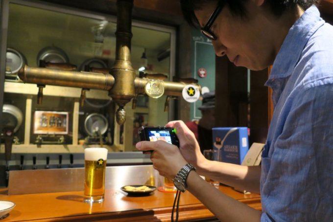 ビールブロガーの撮影タイム