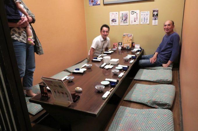 函館「いか清 本店」は殆どが個室のようだ