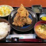 ランチマップで注文したジューシー鶏唐揚げ定(通常780円が、ランチマップで500円)
