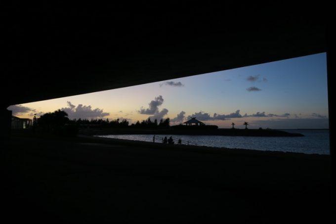 波の上公園の夕暮れ