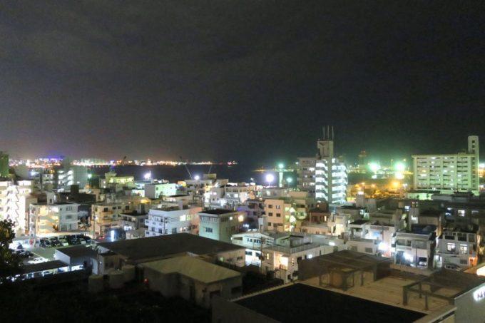 天久テラスからの眺め。高台にあるので夜景も楽しめる