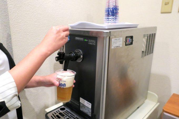オリオンビールの樽生を楽しめる