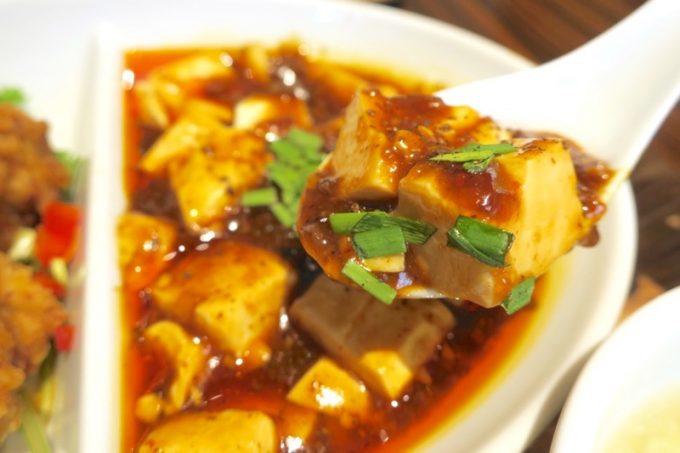 紅虎餃子房の四川マーボー豆腐