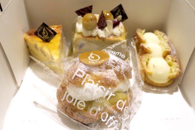 那覇・真嘉比「Cake cafe Piednue(ピエニュー)」のケーキ