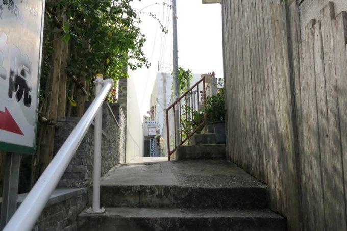桜坂の路地。