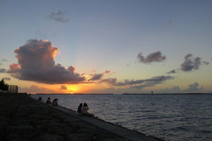 うみそら公園の夕日