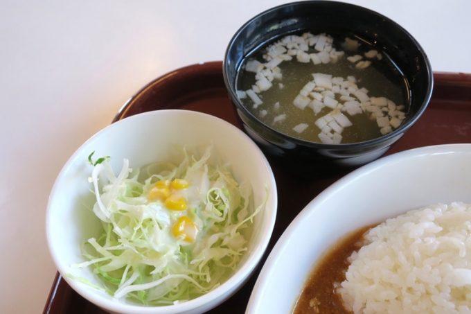日替りランチのサラダとスープ