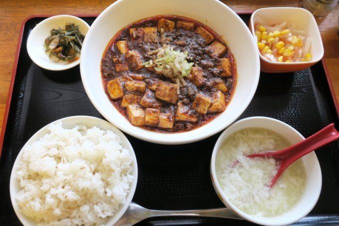 ランチ限定の四川式麻婆豆腐(900円)