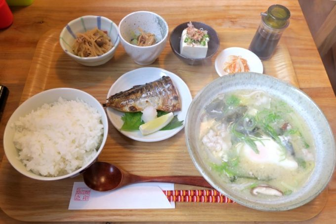 「リゾム」の沖縄味噌汁定食(850円)